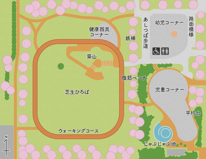 花畑公園マップ